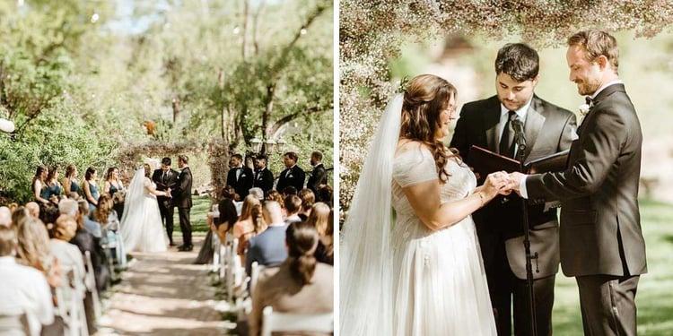 Boulder Creek Ceremony: Romantic Creekside Summer Wedding at Boulder Creek