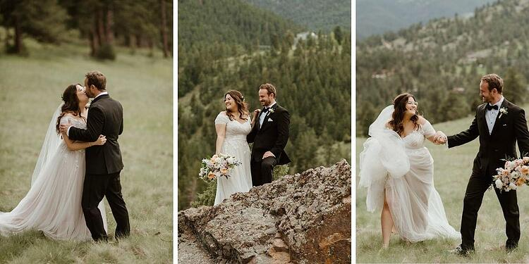 Stunning Private Vows: Romantic Creekside Summer Wedding at Boulder Creek