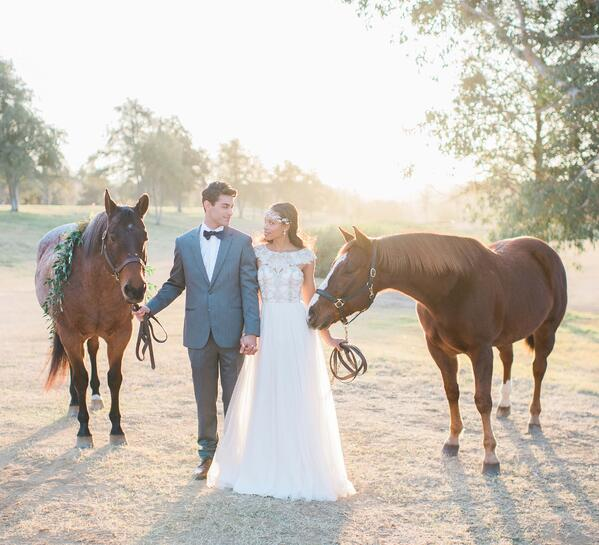 Fun date idea with horses at Galway Downs by Wedgewood Weddings