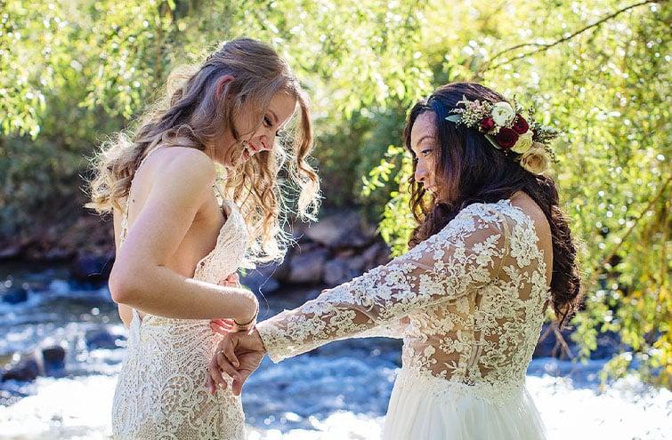 Lesbian wedding dress help - Wedgewood Weddings
