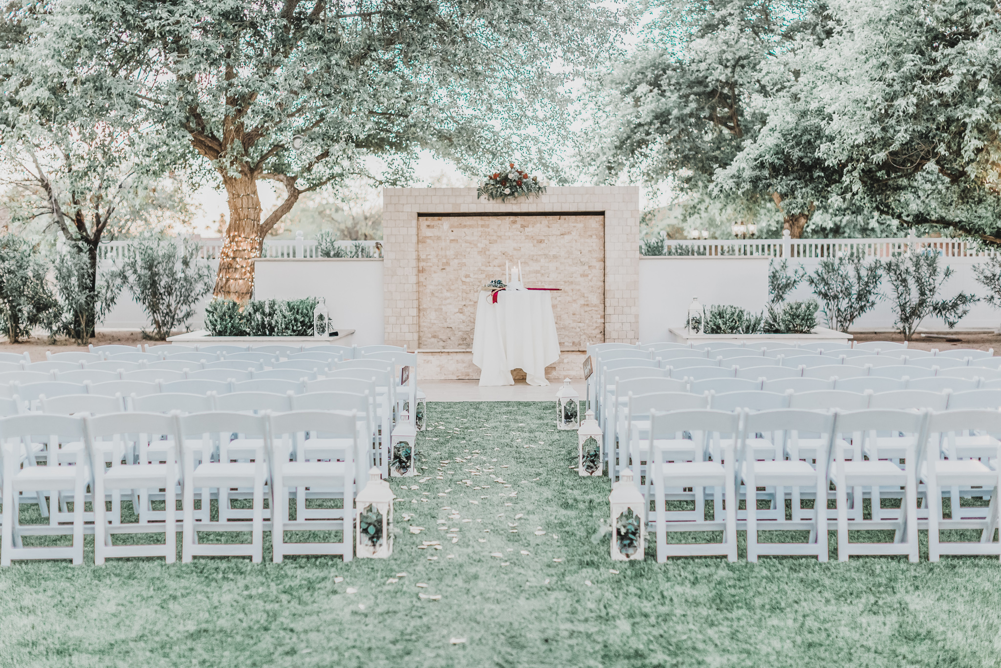 Lindsay Grove by Wedgewood Weddings Outdoor Stonewall Ceremony