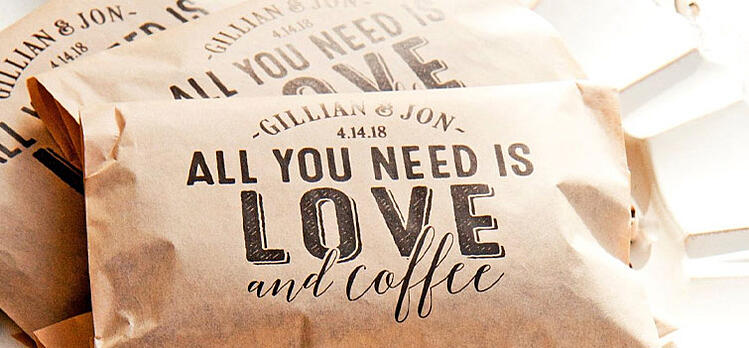 Love & Coffee details from www.brideandblossom
