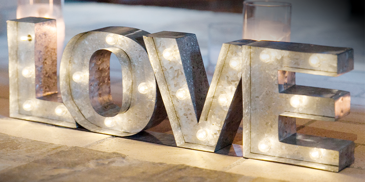 On trend signs can create the right atmosphere for your event!