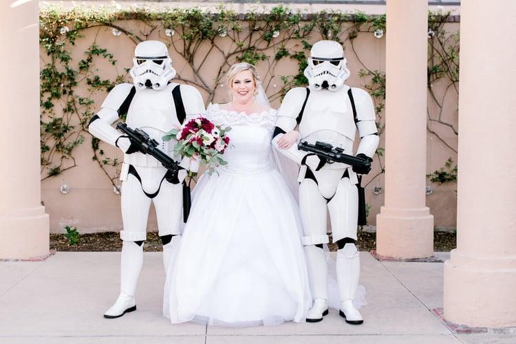 CONSIDER HAVING STORM TROOPERS WALK YOU DOWN THE AISLE - ALISO VIEJO BY WEDGEWOOD WEDDINGS