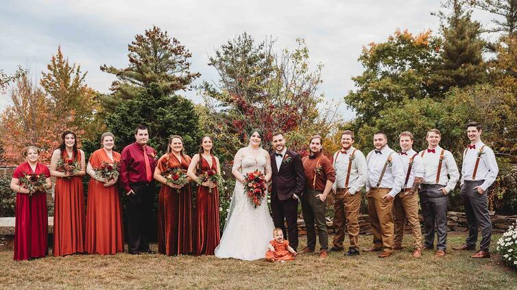Copper-Colored Bridal Party | Fall Wedding | Madison & Tyler's Wedding at Granite Rose