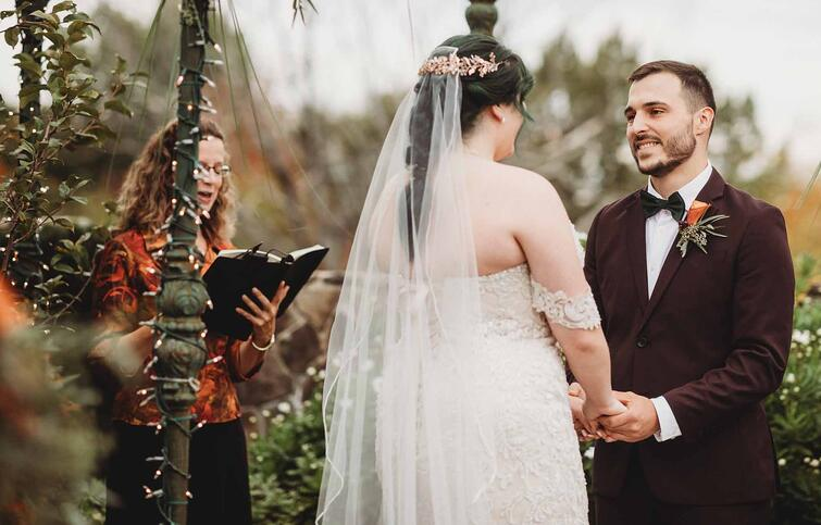 Stunning Outdoor Fall Wedding Ceremony | Fall Wedding | Madison & Tyler's Wedding at Granite Rose