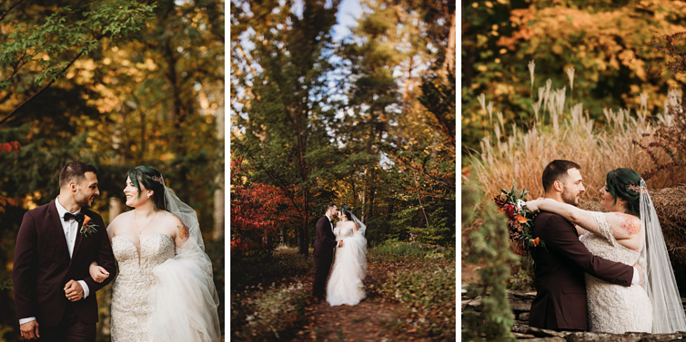 Forest Wedding Portraits | Fall Wedding | Madison & Tyler's Wedding at Granite Rose