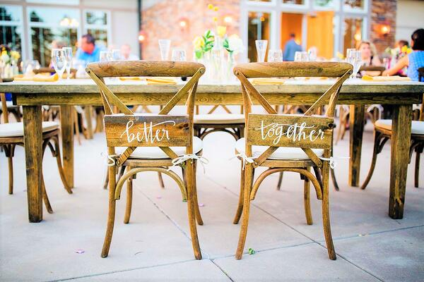 Outdoor reception at Wedgewood Weddings