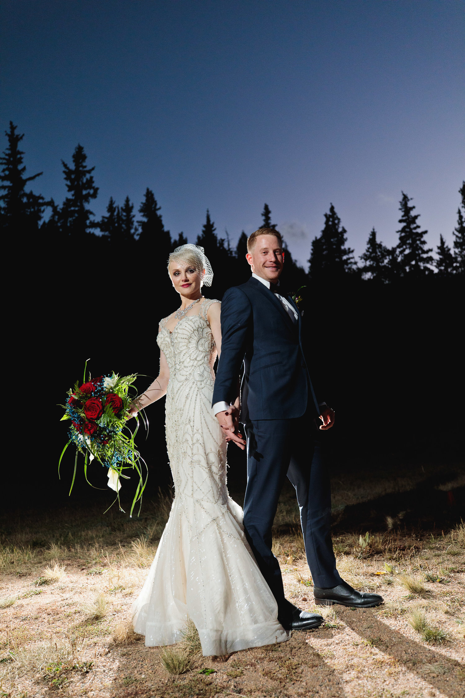 Moonlight Wedding at Mountain View Ranch by Wedgewood Weddings