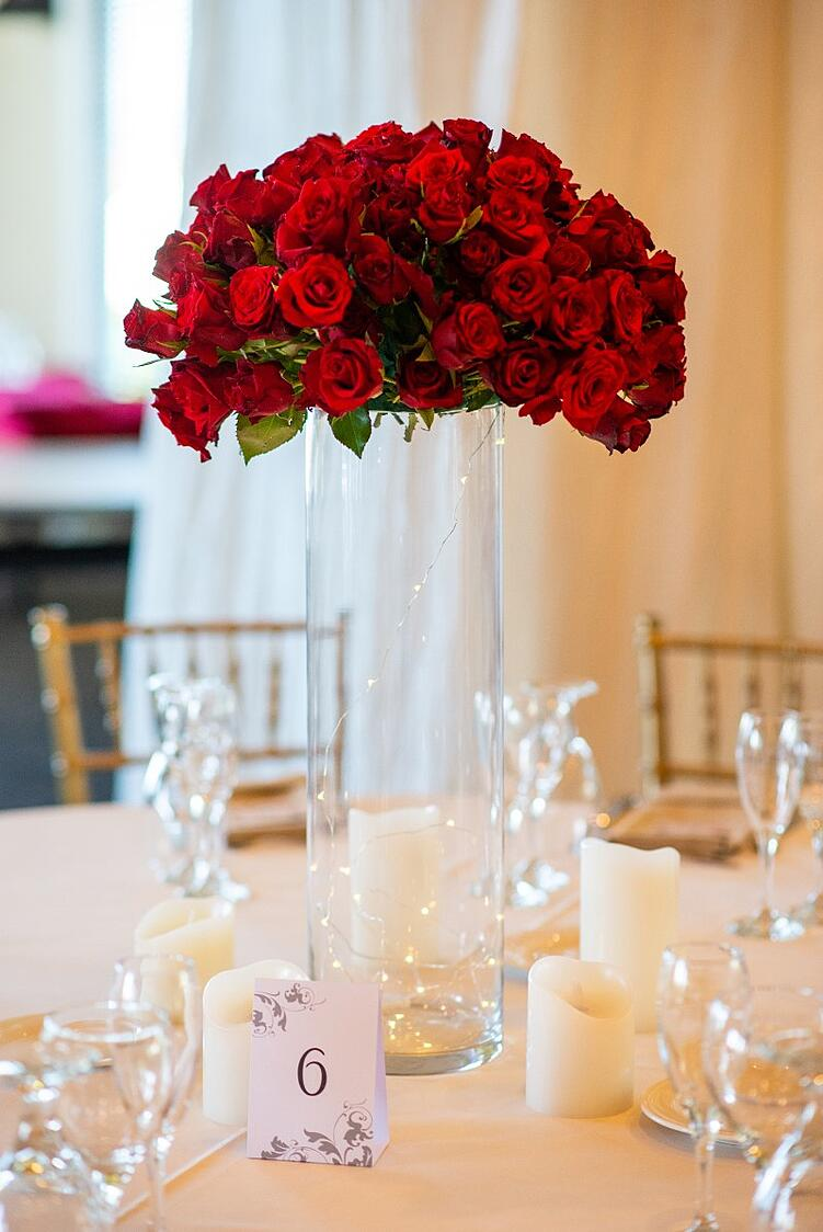 Classic Red Rose Centerpiece