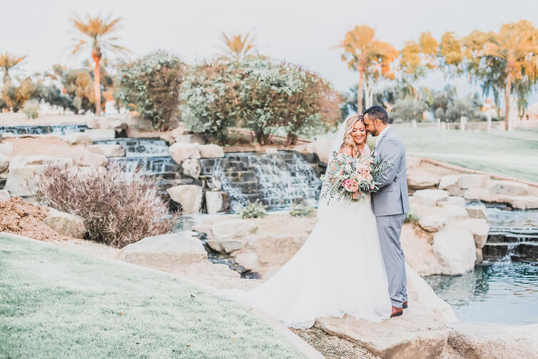 Bride and Groom - Ocotillo Oasis - Chandler, Arizona - Wedgewood Weddings