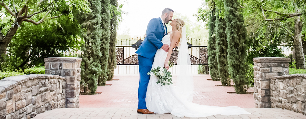 On-Trend Sapphire Blue Grooms Suit at Stonebridge Manor by Wedgewood Weddings
