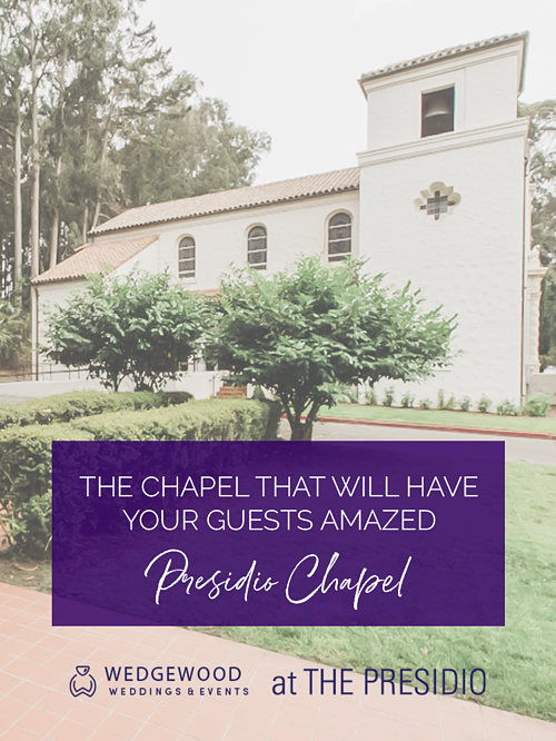 Explore the beauty and history of the prestigious Presidio Chapel. One of San Fran's best-kept secrets is a stunning chapel overlooking the Bay on a National Park. When planning a reception at the Golden Gate Club, couples are ecstatic about the ceremony backdrop of the...