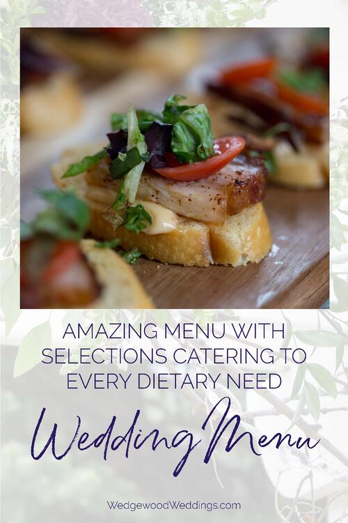 Enjoy the best food for your best day! Your wedding meal deserves to be the very best so get insider secrets about our team's favorite wedding bites. Explore the wedding menu - find out what tastes delicious, mouth-watering, and delectable!