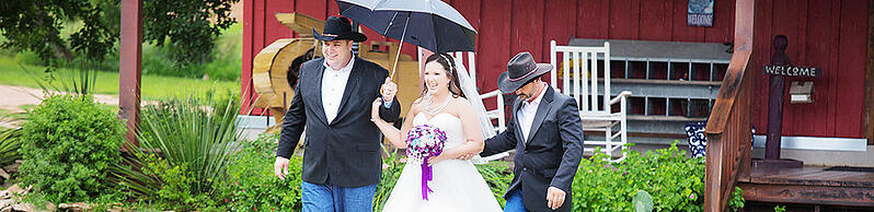 Rain or Shine it all works out with Wedgewood Weddings
