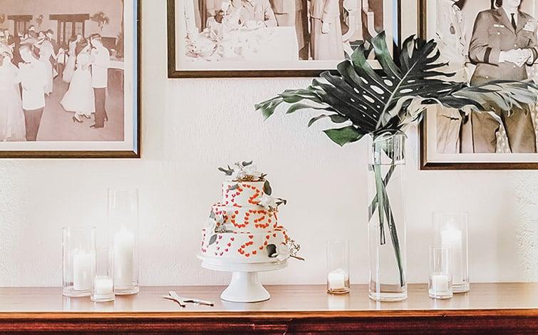 Retro Cake Table Wedgewood Weddings