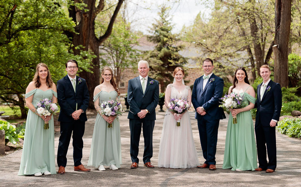 Romantic Spring Wedding, Bridal Party at Tapestry House by Wedgewood Weddings