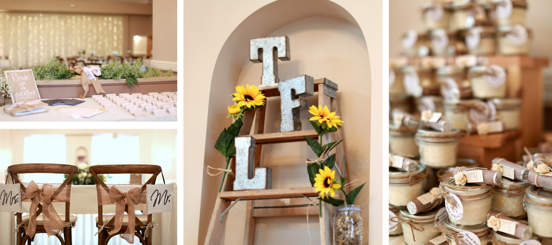 Rustic Chic Decor Ideas by Wedgewood Weddings