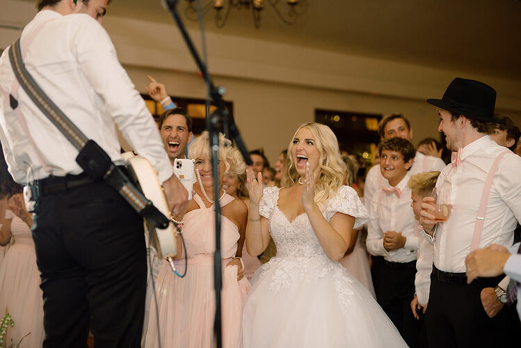 What a treat it was to be part of this special day! Rydel's brothers performed at the wedding, a dream come true for the glowing bride. It also served as the perfect opportunity to jump on stage a few times and delight the guests . . .
