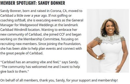 Meet Carlsbad Community Member, Sandy Bonner