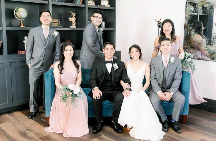 A Handsome Bridal Party at The Carlsbad Windmill