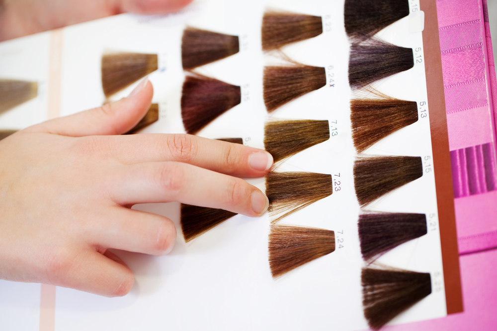 Choose a matching (or contrast) hair extension color