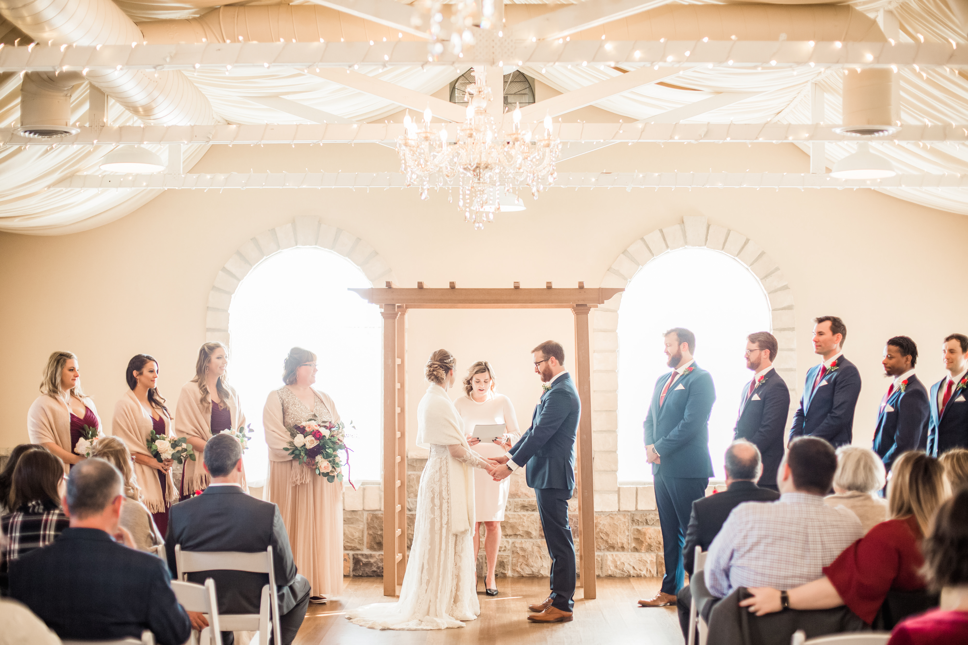 Gorgeous Indoor Ceremony at Tapestry House by Wedgewood Weddings