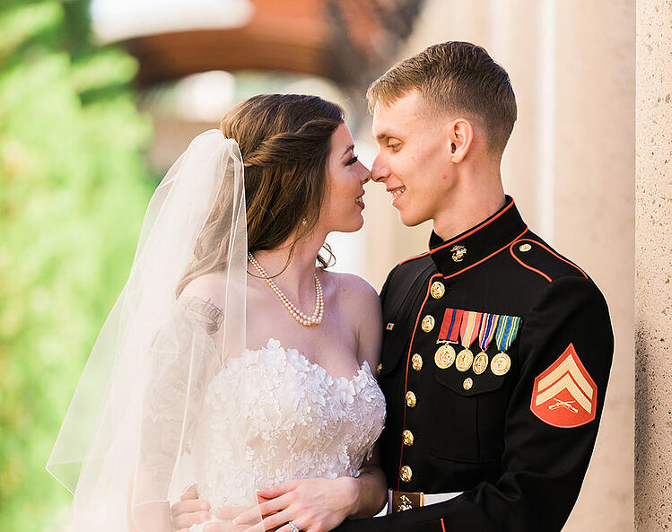 Tyler & Dannika's Classic Military Wedding at Ocotillo Oasis