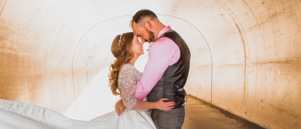 A Romantic Photoshoot Can happen anywhere - this is the cart tunnel at The Retreat by Wedgewood Weddings