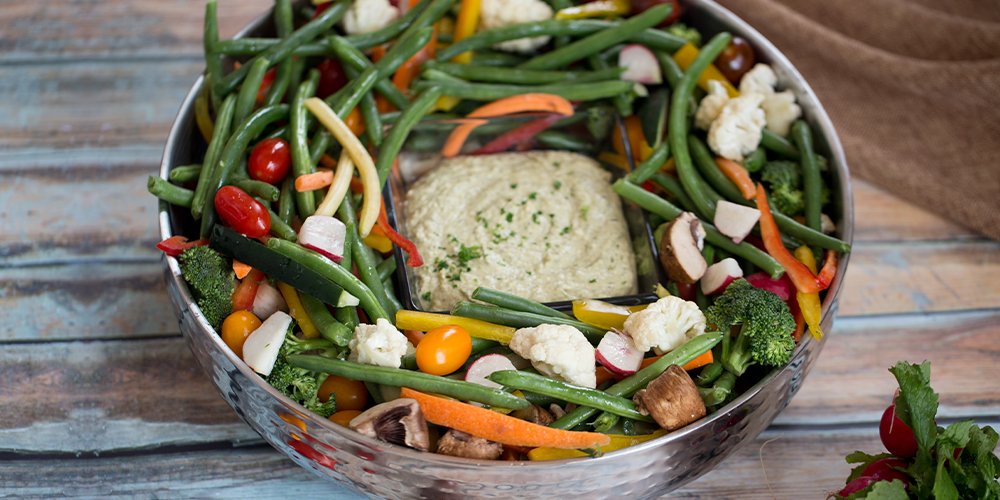 Mixed Vegetable and Hummus Tray