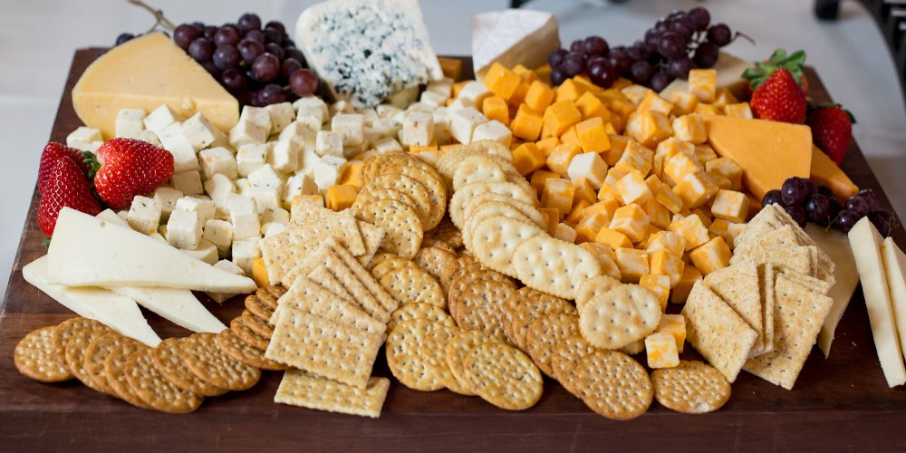 Fruit and Cheese Tray Pairs Great with our Wines