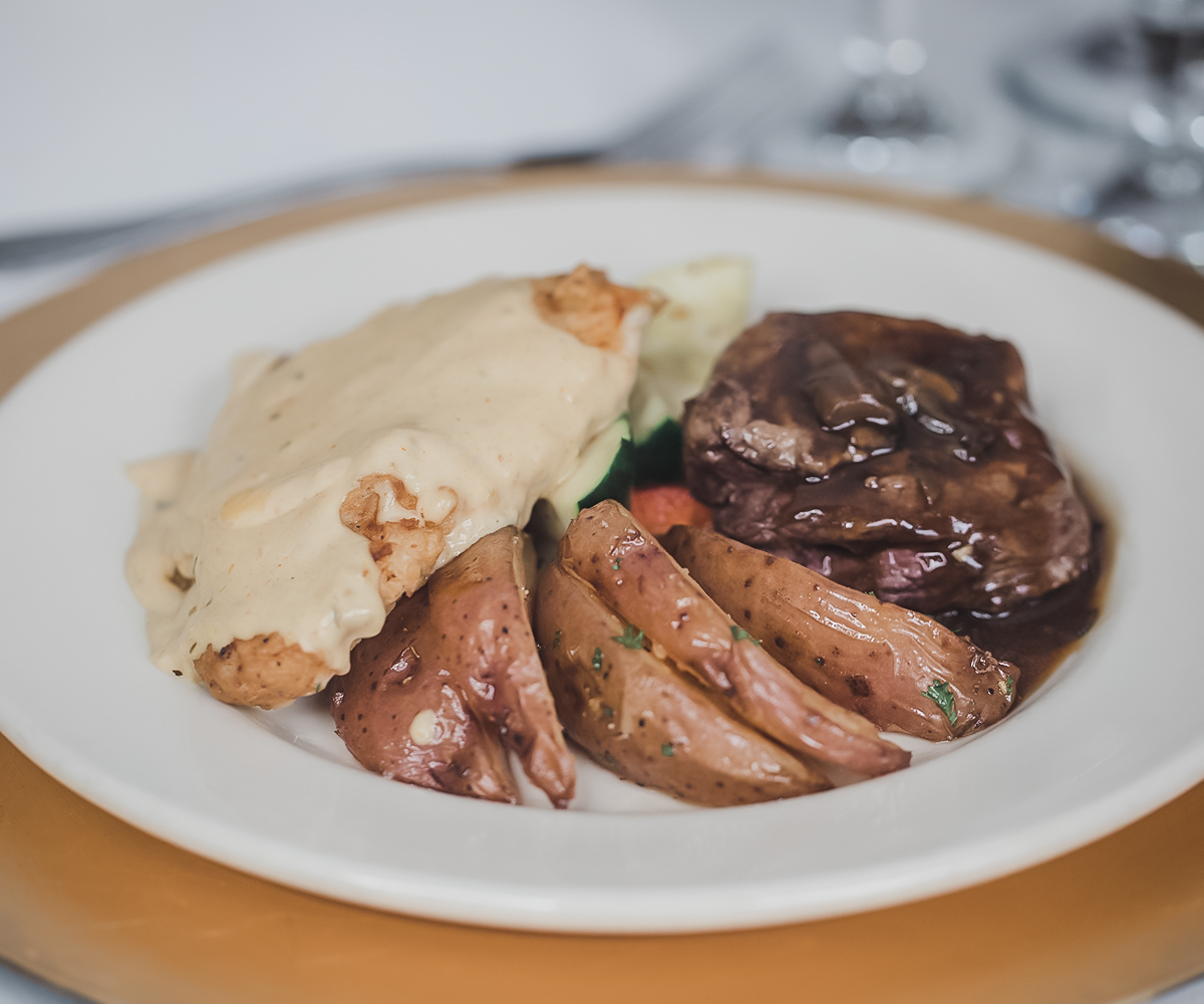 Duet Plated Meals Come with the Premier or Elite Packages