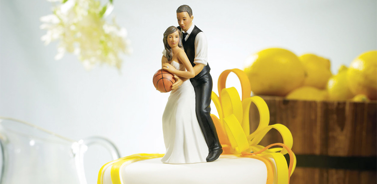 Love basketball make it part of your wedding celebration!asketball inspired love