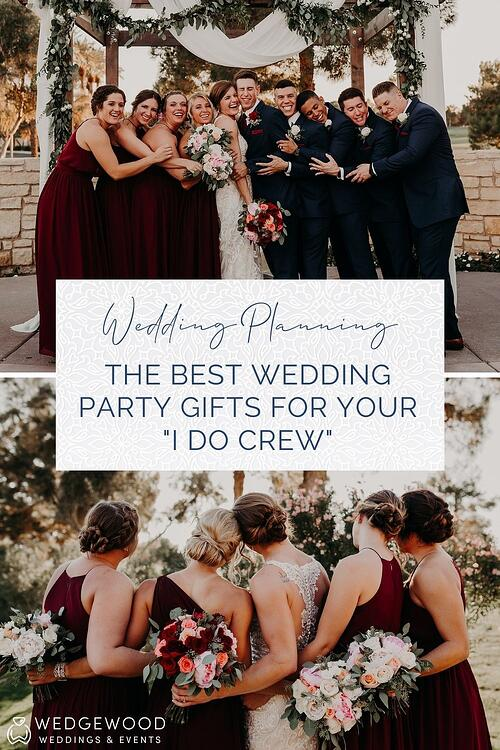 Your wedding party works hard to help make sure that your wedding experience is fun, unique, and stress-free. From hosting showers and bachelor parties to standing by your side on the big day, they do a lot - so it's important to say thank you! Choosing wedding party gifts for your friends, family, and loved ones should be fun and easy. Enjoy our guide to the best wedding party gift ideas, plus some essential tips to make sure is a seamless process.