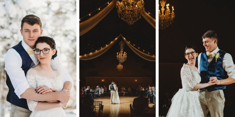 Beautiful, Dramatic Color Palette for this Winter Wedding at Black Forest