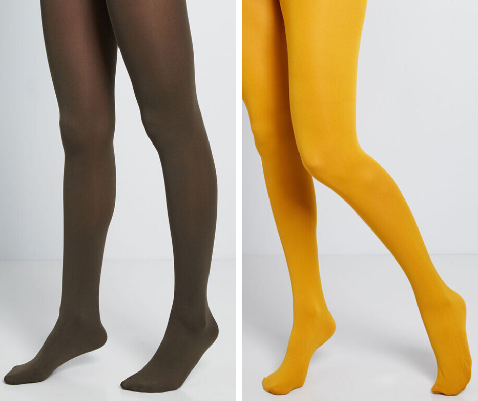 colored stockings or fall wedding guest outfits