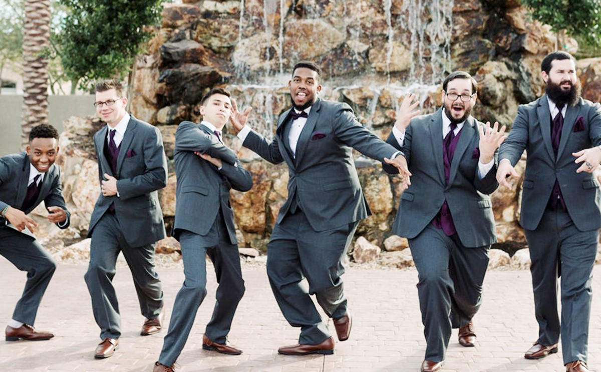 groomsment at Colby Falls by Wedgewood Weddings