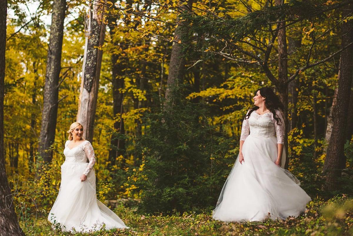 LGBTQ-friendly autumn wedding in New England