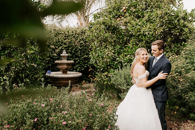 Joyful Couple at University Club Irvine by Wedgewood Weddings