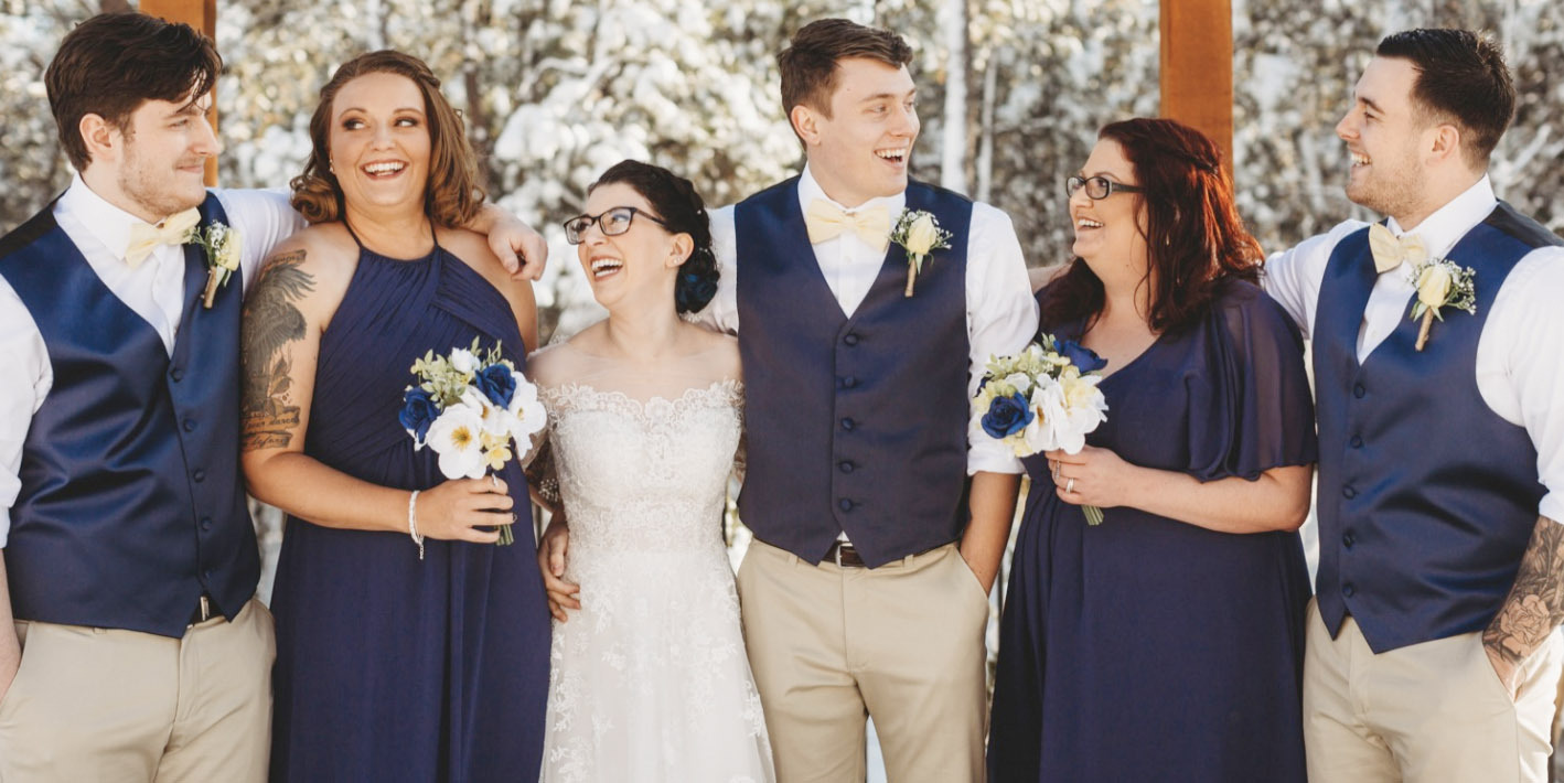 vibrant jewel tones wedding color trends on a bridal party