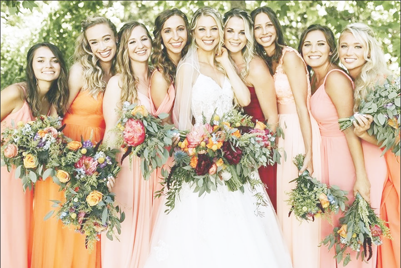 warm earthy hues color trends for bridesmaids