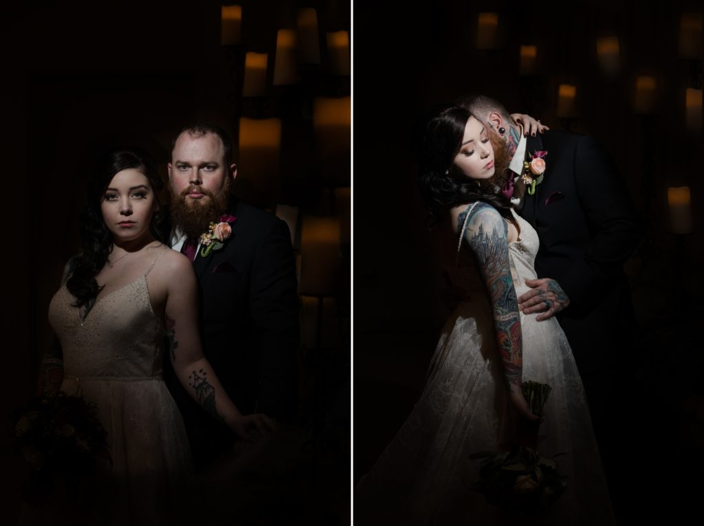 Macabre Wedding Portrait Photography