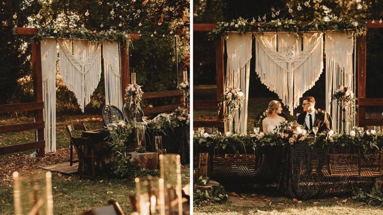 Trendy Macrame Wedding Decor