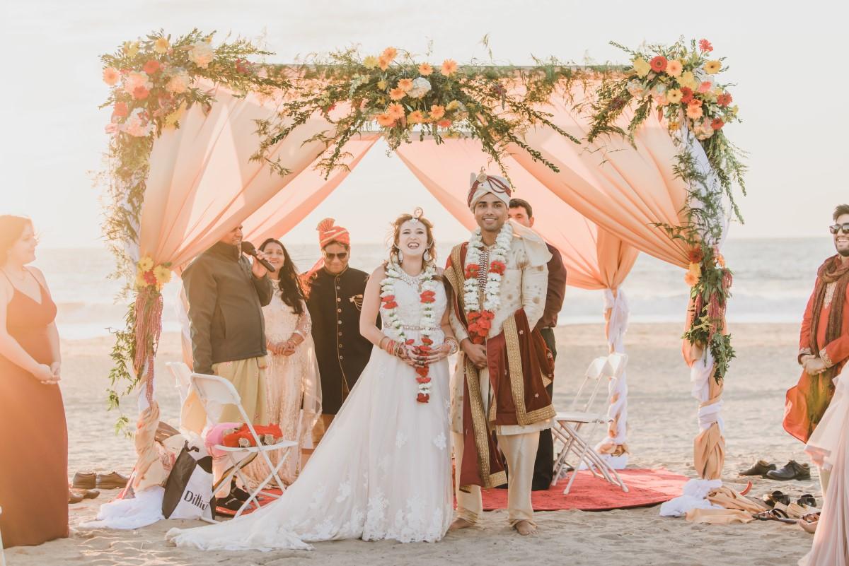 Gorgeous, Ornate Beach Ceremony