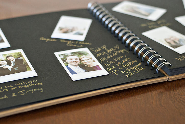Polaroid Wedding Guest Book Tutorial