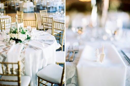 Paper crane wedding decor at Stonebridge Manor by Wedgewood Weddings