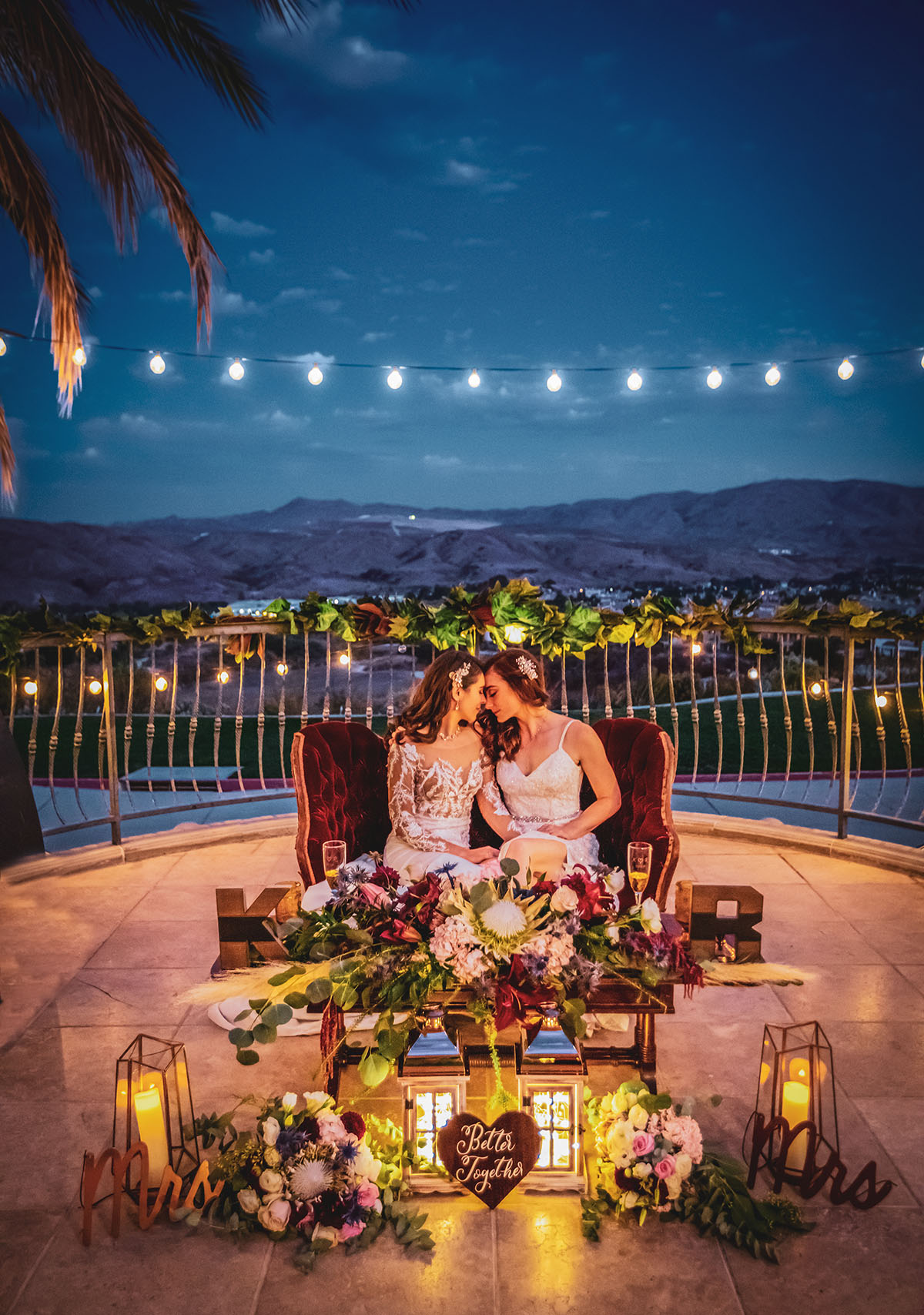 Kayla and Robin's LGBTQ wedding at The Retreat in Corona, CA