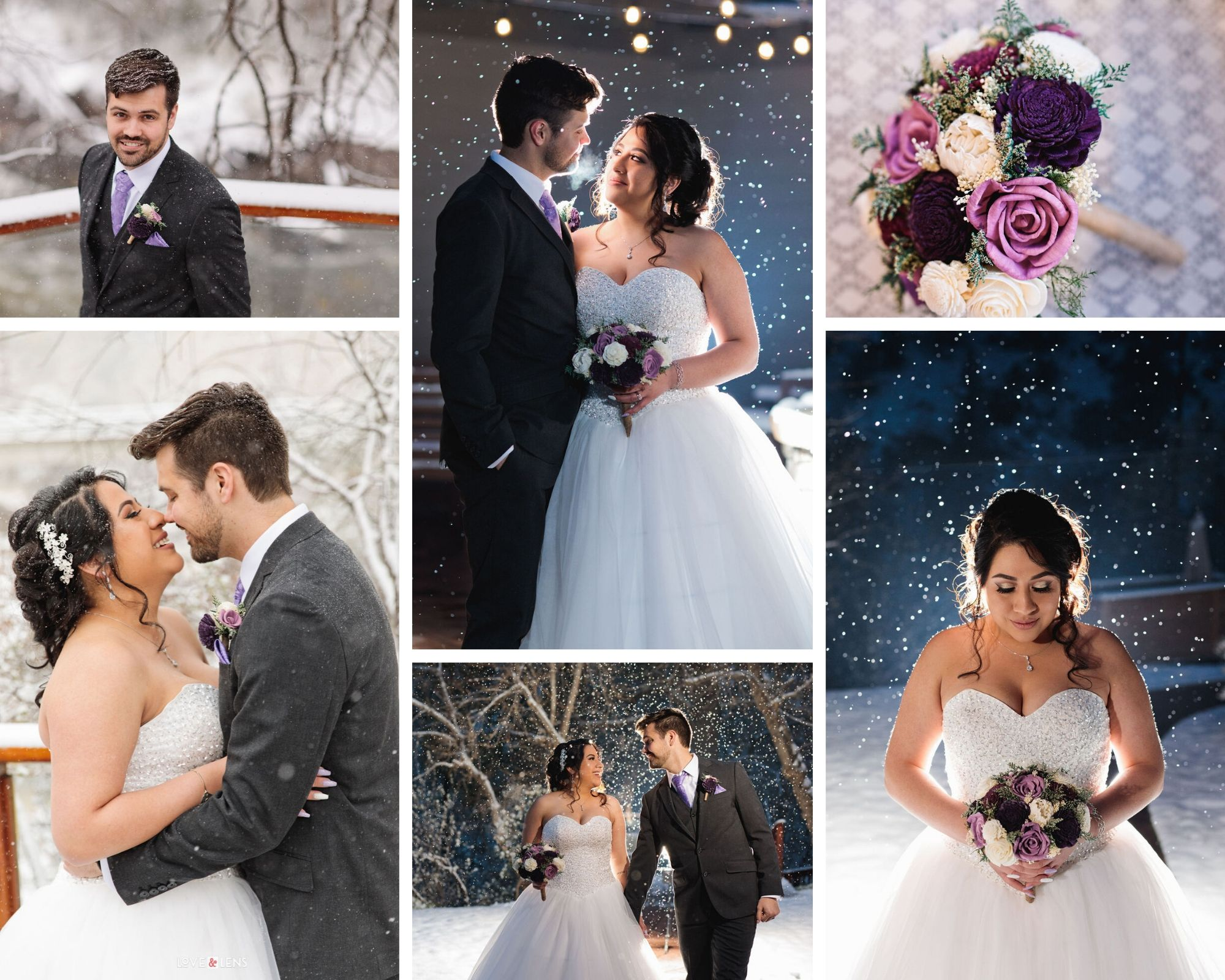 Snowy Magical Wedding at Boulder Creek in Colorado