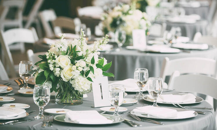 Classic Wedding Table Decor at Boulder Creek