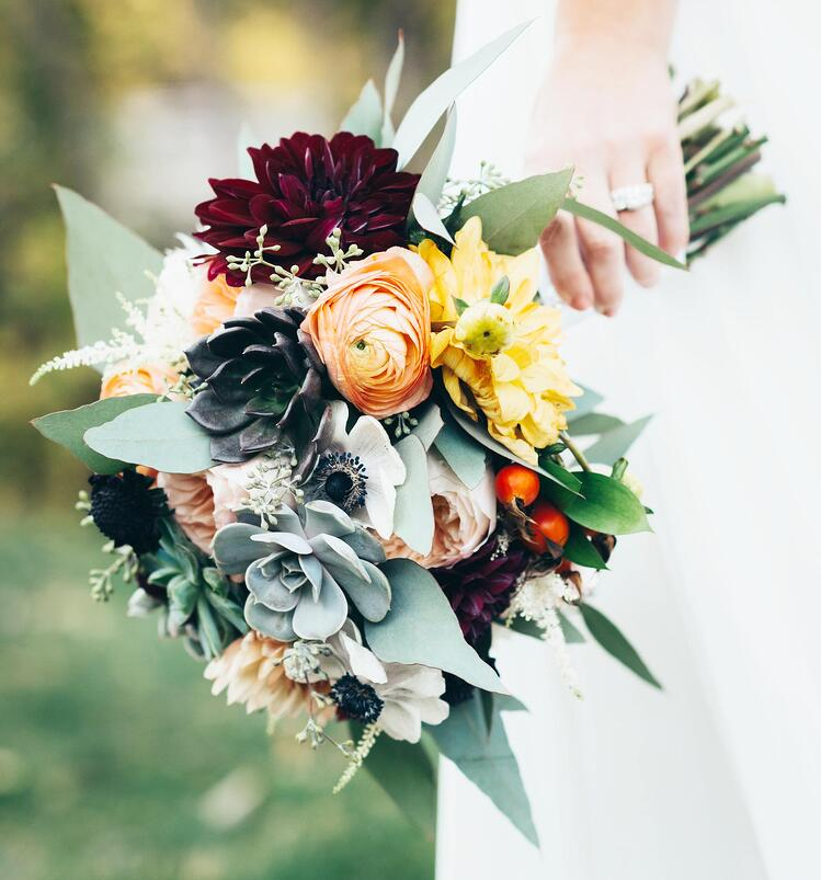 Succulent Bridal Bouquet by Painted Primrose